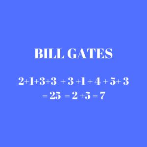 mapa numerologico analise expressão Bill Gates