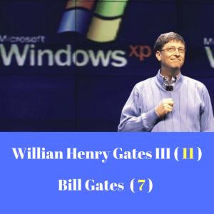 mapa numerologico conversao nome Bill Gates
